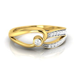 diamond studded gold jewellery - Jackolyn Promise Ring - Pristine Fire - 2