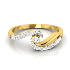 diamond studded gold jewellery - Parmenia Promise Ring - Pristine Fire - 2