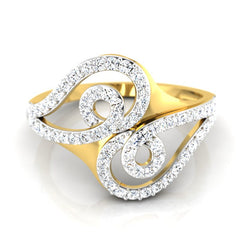 diamond studded gold jewellery - Bayli Fashion Ring - Pristine Fire - 2