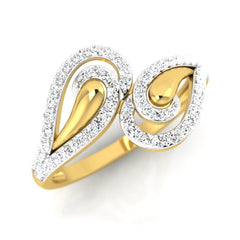 diamond studded gold jewellery - Carelyn Fashion Ring - Pristine Fire - 1