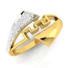 diamond studded gold jewellery - Electa Fashion Ring - Pristine Fire - 1