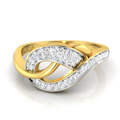 diamond studded gold jewellery - Cadyna Fashion Ring - Pristine Fire - 2