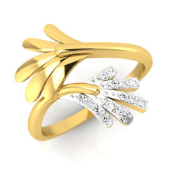diamond studded gold jewellery - Onawa Fashion Ring - Pristine Fire - 1