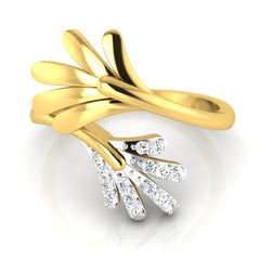 diamond studded gold jewellery - Onawa Fashion Ring - Pristine Fire - 2