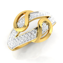 diamond studded gold jewellery - Laurianne Bands Ring - Pristine Fire - 1