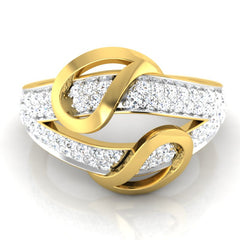 diamond studded gold jewellery - Laurianne Bands Ring - Pristine Fire - 2