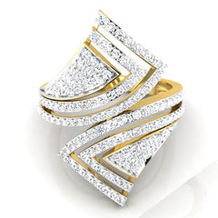 diamond studded gold jewellery - Severina Cocktail Ring - Pristine Fire - 2