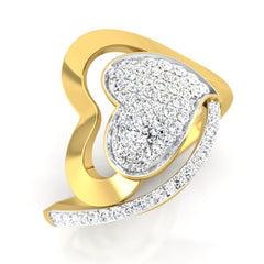 diamond studded gold jewellery - Milenka Cocktail Ring - Pristine Fire - 1
