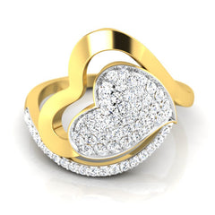diamond studded gold jewellery - Milenka Cocktail Ring - Pristine Fire - 2