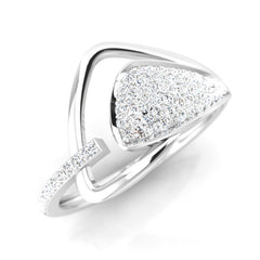diamond studded gold jewellery - Ronisha Fashion Ring - Pristine Fire - 1