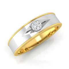 diamond studded gold jewellery - Adil Men's Ring - Pristine Fire - 1