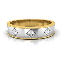 diamond studded gold jewellery - Agnello Men's Ring - Pristine Fire - 2
