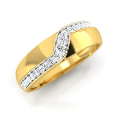 diamond studded gold jewellery - Alan Men's Ring - Pristine Fire - 1