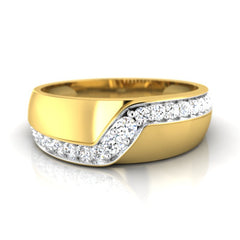 diamond studded gold jewellery - Alannah Band Ring - Pristine Fire - 2