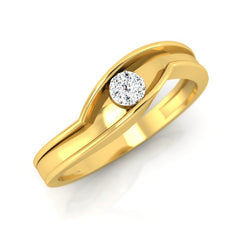 diamond studded gold jewellery - Albert Men's Ring - Pristine Fire - 1