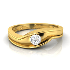 diamond studded gold jewellery - Albert Men's Ring - Pristine Fire - 2