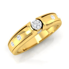 diamond studded gold jewellery - Alexey Men's Ring - Pristine Fire - 1