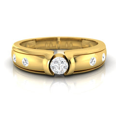 diamond studded gold jewellery - Alexey Men's Ring - Pristine Fire - 2