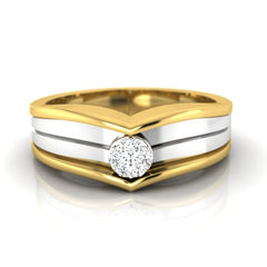 diamond studded gold jewellery - Alfreida Band Ring - Pristine Fire - 2
