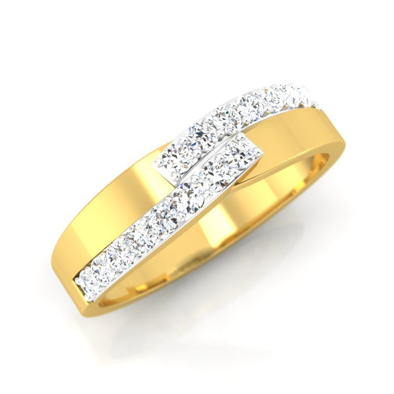 diamond studded gold jewellery - Aneesh Men's Ring - Pristine Fire - 1