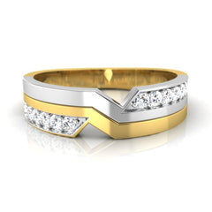diamond studded gold jewellery - Angelo Men's Ring - Pristine Fire - 2