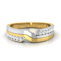 diamond studded gold jewellery - Angella Band Ring - Pristine Fire - 2