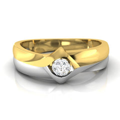 diamond studded gold jewellery - Anselem Men's Ring - Pristine Fire - 2