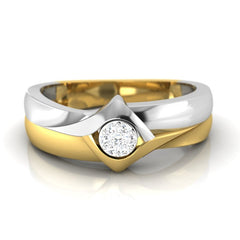 diamond studded gold jewellery - Anselma Band Ring - Pristine Fire - 2