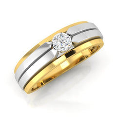 diamond studded gold jewellery - Antony Men's Ring - Pristine Fire - 1