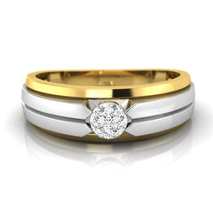 diamond studded gold jewellery - Antony Men's Ring - Pristine Fire - 2