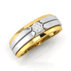 diamond studded gold jewellery - Antonia Band Ring - Pristine Fire - 1