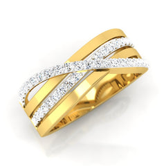diamond studded gold jewellery - August Men's Ring - Pristine Fire - 1