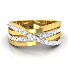 diamond studded gold jewellery - August Men's Ring - Pristine Fire - 2