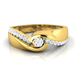diamond studded gold jewellery - Basil Men's Ring - Pristine Fire - 2