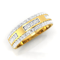 diamond studded gold jewellery - Bryan Men's Ring - Pristine Fire - 1