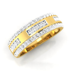 diamond studded gold jewellery - Bryanna Band Ring - Pristine Fire - 1
