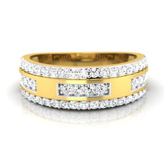 diamond studded gold jewellery - Bryanna Band Ring - Pristine Fire - 2