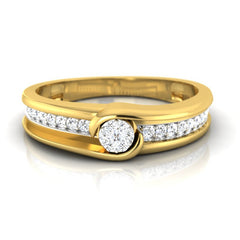 diamond studded gold jewellery - Parin Men's Ring - Pristine Fire - 2