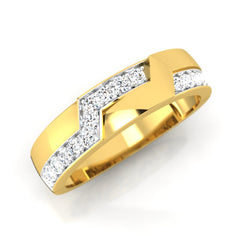 diamond studded gold jewellery - Calvin Men's Ring - Pristine Fire - 1