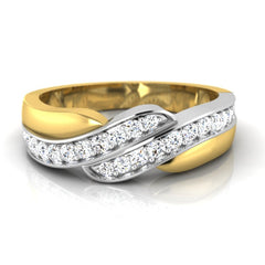 diamond studded gold jewellery - Christopher Men's Ring - Pristine Fire - 2