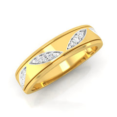 diamond studded gold jewellery - Claud Men's Ring - Pristine Fire - 1