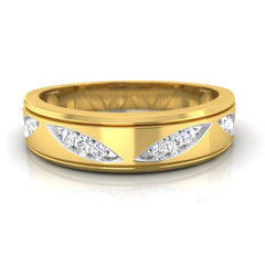 diamond studded gold jewellery - Claud Men's Ring - Pristine Fire - 2