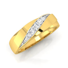 diamond studded gold jewellery - Clement Men's Ring - Pristine Fire - 1