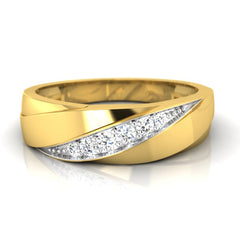 diamond studded gold jewellery - Clement Men's Ring - Pristine Fire - 2