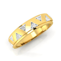 diamond studded gold jewellery - Collin Men's Ring - Pristine Fire - 1