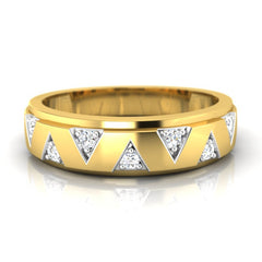diamond studded gold jewellery - Colleen Band Ring - Pristine Fire - 2