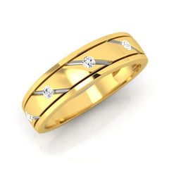 diamond studded gold jewellery - Corey Men's Ring - Pristine Fire - 1