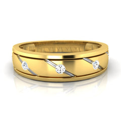 diamond studded gold jewellery - Corey Men's Ring - Pristine Fire - 2