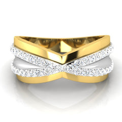 diamond studded gold jewellery - Cyrus Men's Ring - Pristine Fire - 2