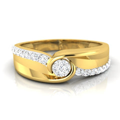 diamond studded gold jewellery - Daniel Men's Ring - Pristine Fire - 2